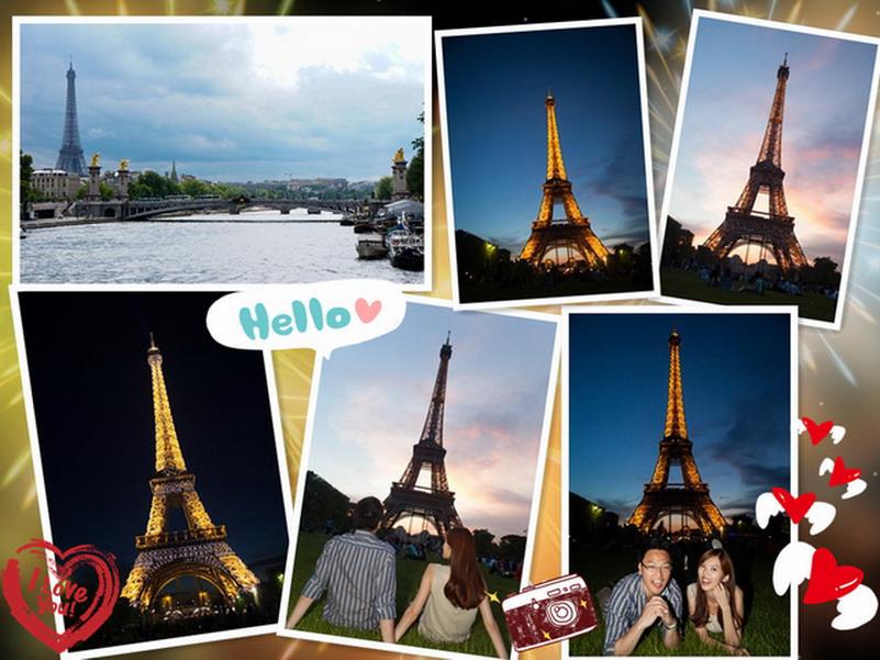 【再訪法國 ♥ 巴黎】 Day4-4 讓人心醉的巴黎艾菲爾鐵塔 La Tour Eiffel  (內有影片)