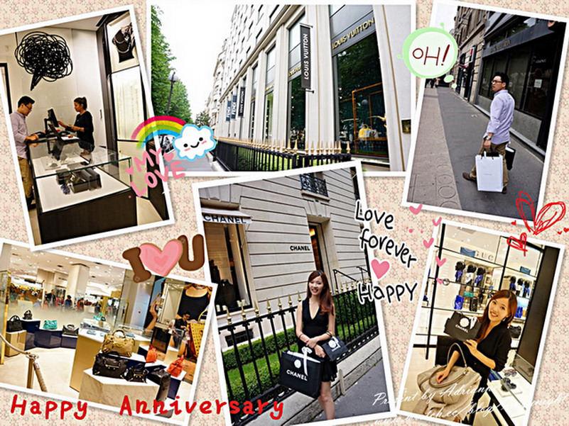 【再訪法國 ♥ 巴黎】 Day8  兩週年結婚紀念日快樂!一起走遍全巴黎最奢華的精品街吧!