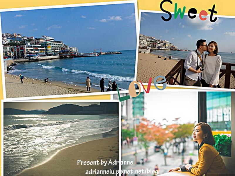 【韓國釜山自由行】Day10-2 (203)海雲臺站 ─ 來海雲台海灘해운대踩踩水看海鷗