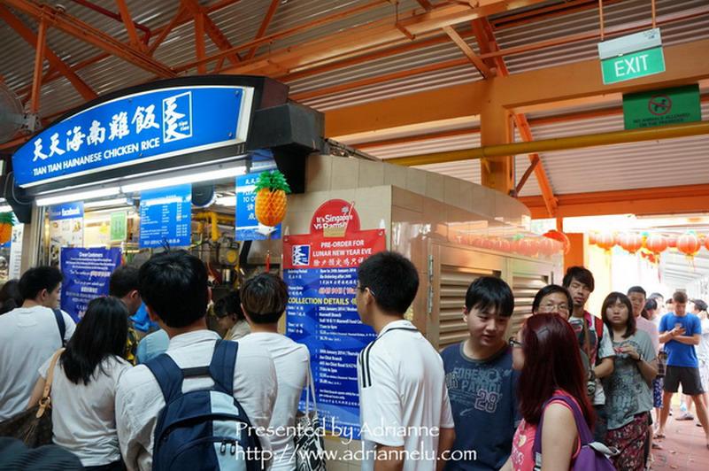【新加坡自由行】NE4 牛車水站 ─ 麥斯威爾熟食中心(Maxwell food centre) 天天海南雞飯