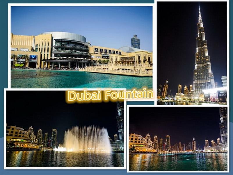 【環遊歐洲68天】Day2-2 杜拜Dubai世界之最。杜拜購物中心(Dubai Mall)、哈里發塔(Khalīfa tower)、杜拜音樂噴泉(Dubai Fountain)