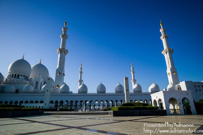 【環遊歐洲68天】Day4-2 阿布達比Abu Dhabi。阿聯規模最大的Sheikh Zayed大清真寺