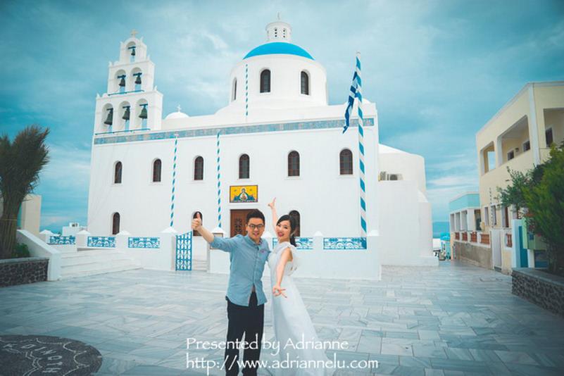 【環遊歐洲68天】Day8-1 聖托里尼伊亞Oia。來希臘一定要拍個偽婚紗照,留下浪漫紀念喔!