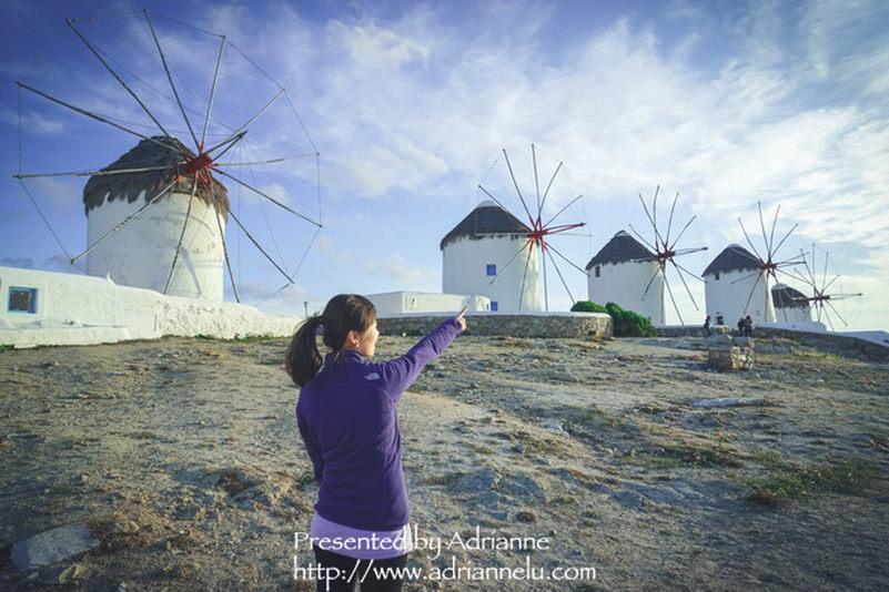 【環遊歐洲68天】Day10-3 米克諾斯 Mykonos。漫步在浪漫的白色小徑(五座風車、小威尼斯、日落、復活節慶典)