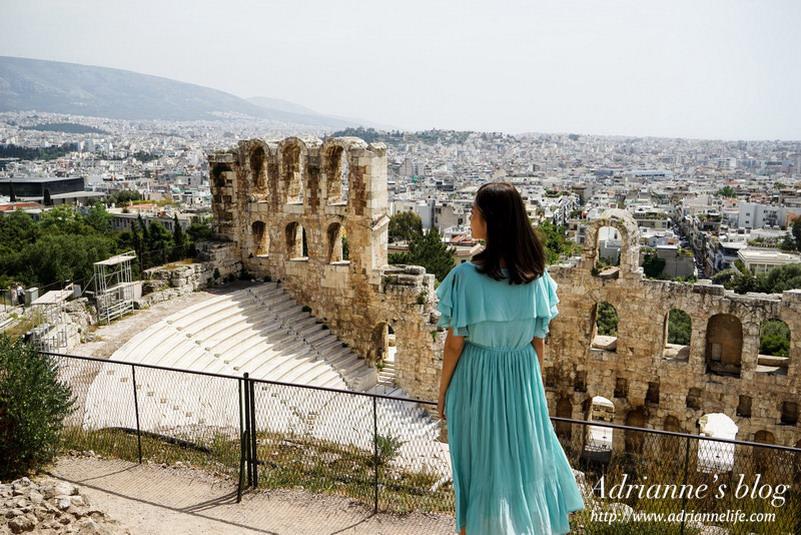 【環遊歐洲68天】Day13 雅典Athen。衛城Acropolis(帕德嫩神殿、阿提庫斯劇場、伊瑞克提翁神殿、戴奧尼索斯劇場)→ 宙斯神殿