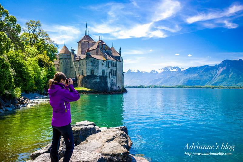 【環遊歐洲68天】Day26 瑞士蒙特勒。日內瓦湖上猶如仙境般的中世紀西庸城堡 Chillon Castle!