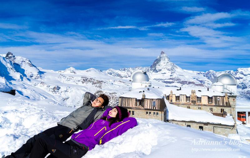 【環遊歐洲68天】Day27 瑞士策馬特。一生必來一次的康納葛德Gornergrat天文觀景台,欣賞馬特洪峰和超壯觀冰河全景的最佳位置!