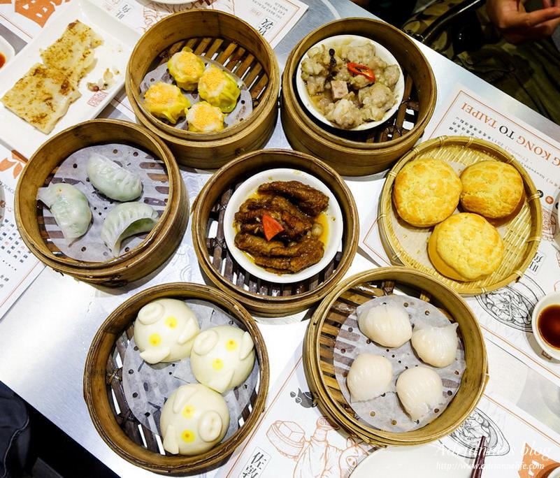 【港式】台北微風信義美食。超人氣點點心港式點心16道餐點+4款飲品心得分享!
