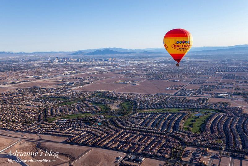 【拉斯維加斯必去行程】坐熱氣球看日出!360度空中俯瞰白天的拉斯維加斯!