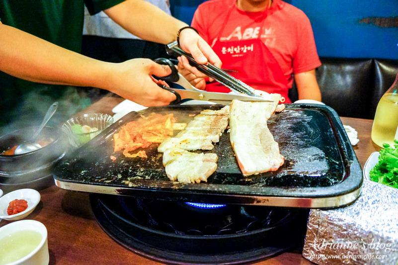 【韓式】中山區-春川達卡比,道地韓國口味的烤五花肉、春川辣炒雞