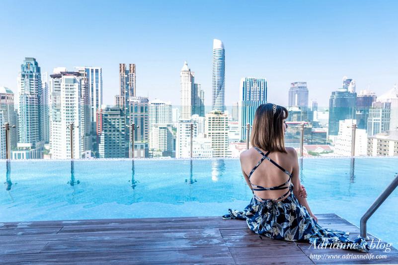 【曼谷住宿推薦】曼谷無線路英迪格酒店  (Hotel Indigo Bangkok Wireless Road) BTS Ploen Chit 步行5分鐘/飯店旁有Top market/房間寬敞採光好/設計感強/頂樓高空酒吧/無邊際泳池/早餐好吃