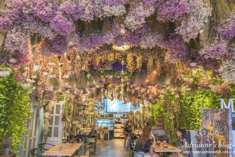 【首爾咖啡廳】(221)驛三站-江南夢幻乾燥花咖啡廳Fresh Herb Tea House ARRIATE(아리아떼)彷彿來到韓劇場景!