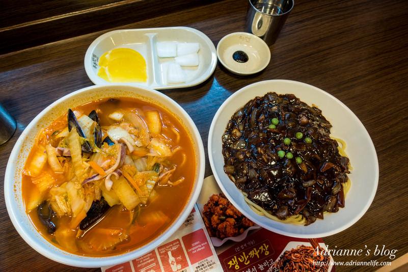 【首爾美食推薦】香港飯店0410平價又美味的韓式炸醬麵&辣炒海鮮麵&辣炒炸雞