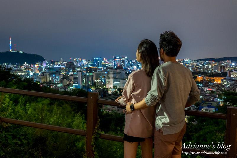 【首爾自由行】經典的韓劇拍攝點駱山公園( 낙산공원),浪漫無比的首爾夜景一覽無遺!(韓劇今生第一次EP8拍攝場景之一/內有地圖路線)