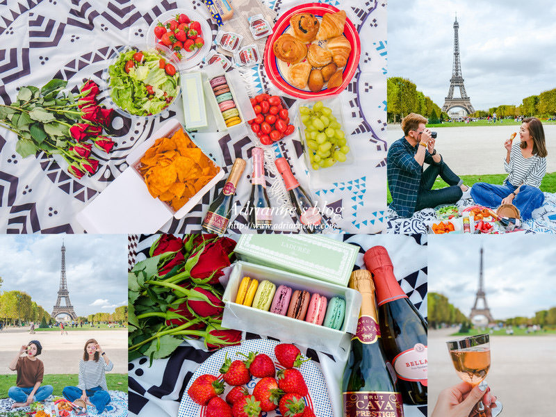 【法國自由行】Day6 當網美來巴黎必做的事!在巴黎鐵塔下來個浮誇的野餐(戰神廣場) → 晚餐:泰越料理Les Saveurs du Mékong