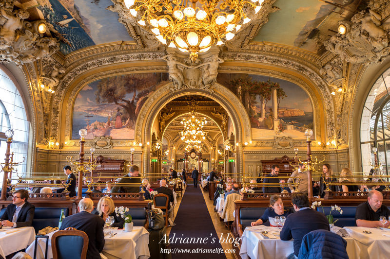 【法國自由行】Day7-2 來一場置身皇宮的饗宴!法國百年皇宮餐廳 藍色列車 Le Train Bleu (內有八折優惠券)