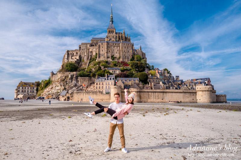 【法國自由行】Day3-2 白天晚上都讓人著迷的神秘聖米歇爾山(Mont Saint Michel)兩天一夜漫遊行(韓劇The Package拍攝景點)