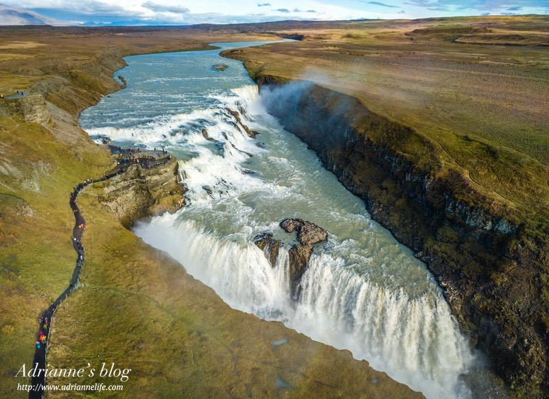 【冰島自由行】Day3-2 間歇泉噴發區(Geysir) → 黃金瀑布(Gullfoss Falls) → 賽里亞蘭瀑布(Seljalandsfoss) → 追極光(內有冰島加油注意事項)