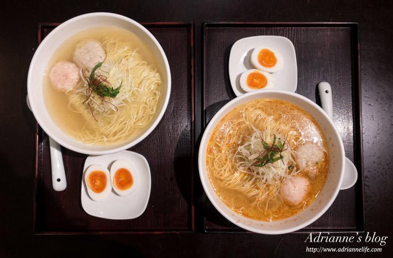 【東京美食】新宿駅-飯糰拉麵 麵屋海神(Menyakaijin) 七種新鮮漁獲熬煮的清淡鮮甜湯頭拉麵!