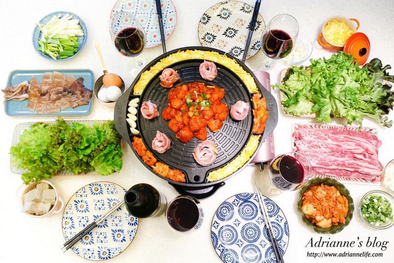 【鍋具】日本IWATANI超薄玫瑰粉卡式爐x韓國Kitchen Art圓形烘蛋排油烤盤,輕鬆就能在家吃韓式烤肉無油煙!