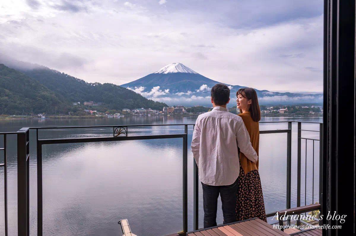 【河口湖住宿推薦】風之露台KUKUNA每個房間都能看到富士山美景,還能邊泡湯邊欣賞富士山!