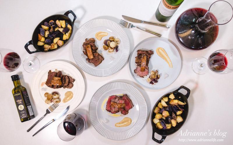 【魯蛋上菜】魯蛋的宴客菜單!魚子醬水波蛋堅果沙拉佐三種起司/松露牛小排佐匈牙利鵝肝/法式傳統米布丁