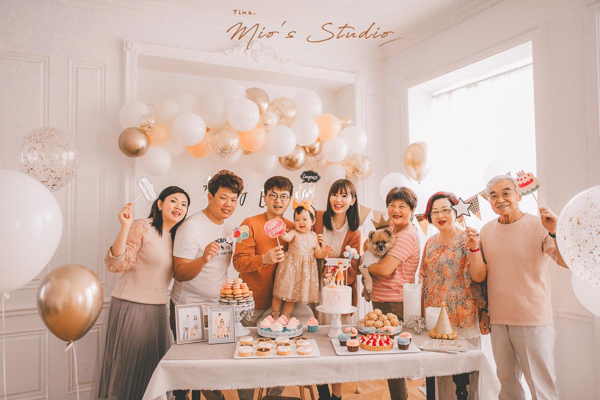 【Mila週歲】為寶寶舉辦一場夢幻的週歲生日派對(Mio's Studio攝影/場地/佈置/蛋糕/甜點/抓周儀式流程/抓周道具/廠商資訊)