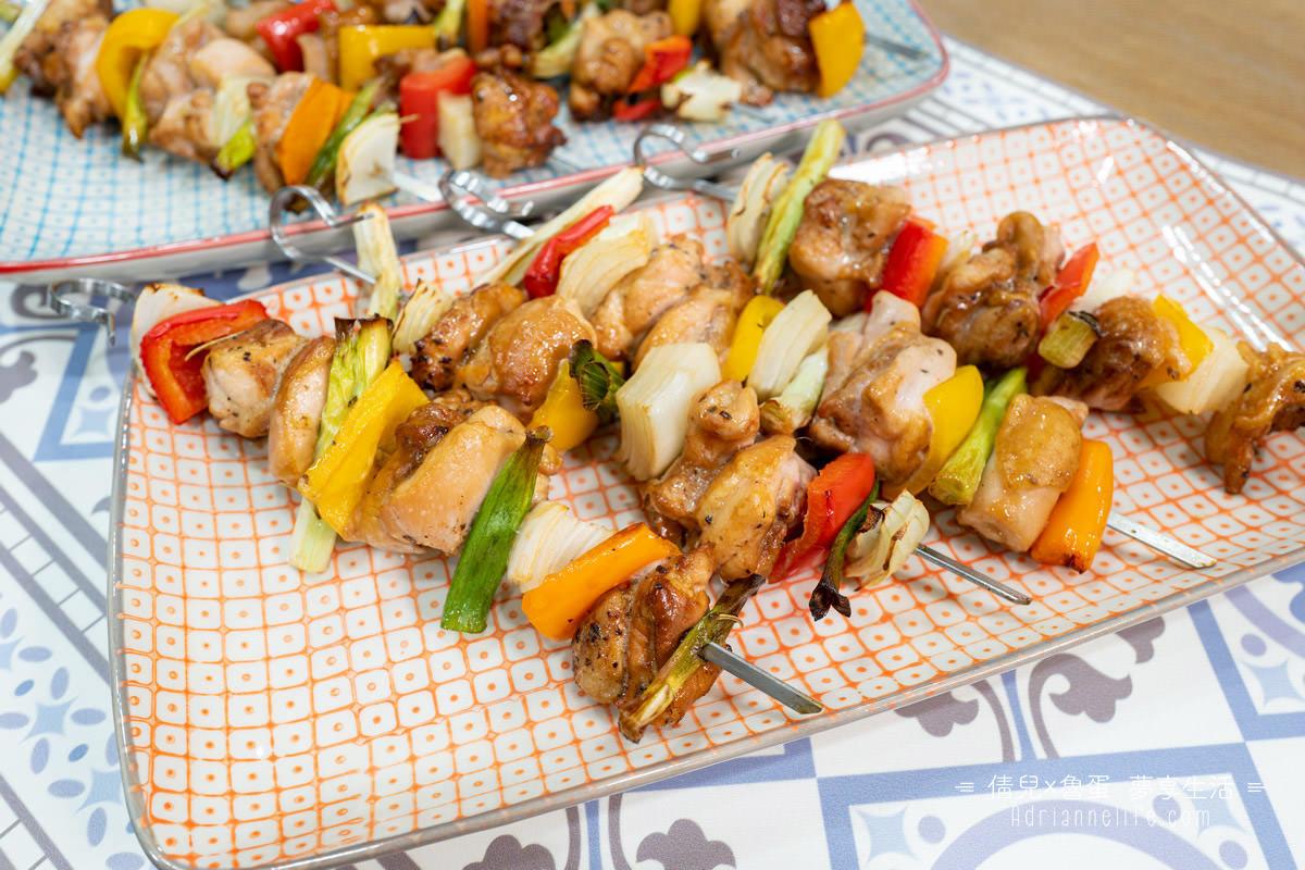 【422氣炸烤箱食譜】一次10串同時出爐!好吃又嫩口的氣炸雞肉串燒,下酒/宵夜/開趴必備!