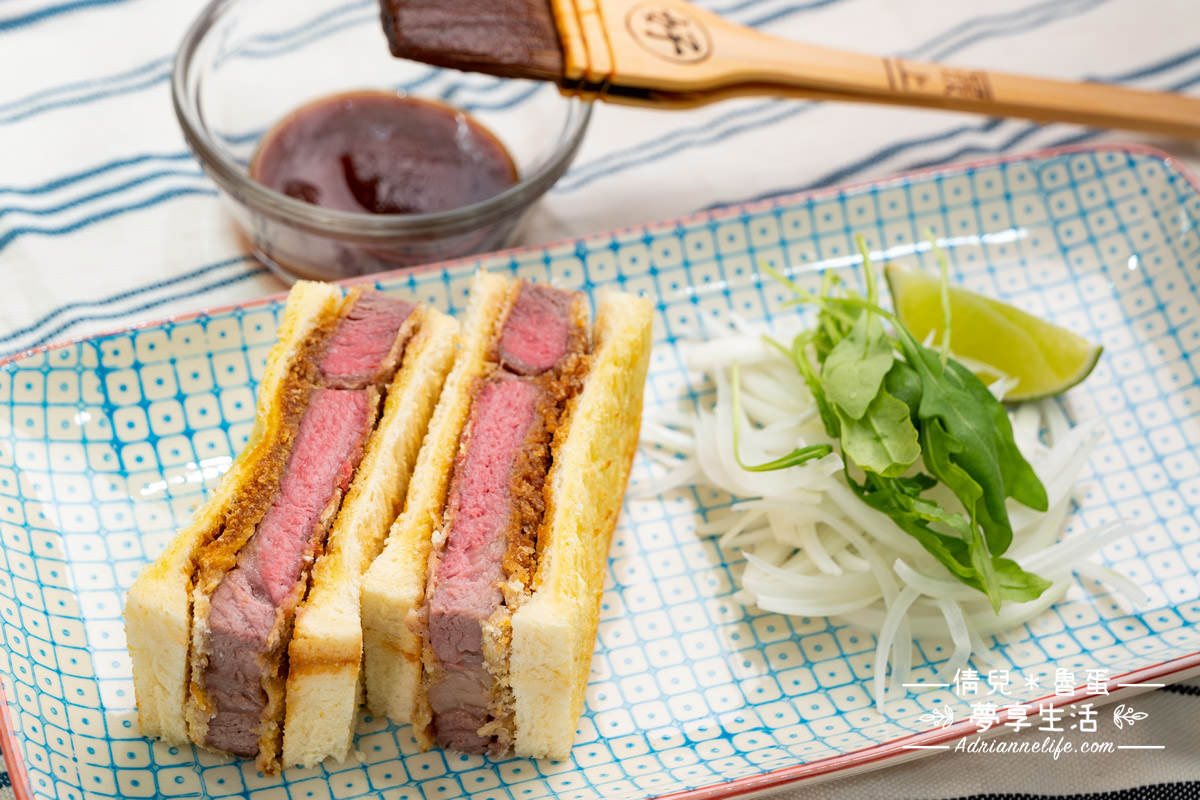 【422氣炸烤箱食譜】 不用一滴油!20分鐘完成超美味的日式炸肋眼牛排三明治!