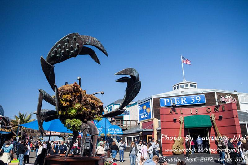 【舊金山】Day11-2  好吃好玩又好逛 ─ 漁人碼頭 (Fisherman's Wharf)