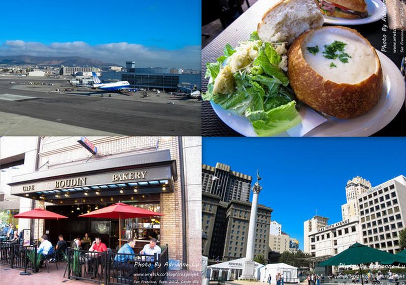 【舊金山】Day11-1 舊金山機場(SFO)→ 聯合公園(Union Square)→ 最有名的酸麵包Boudin Sourdough Bakery