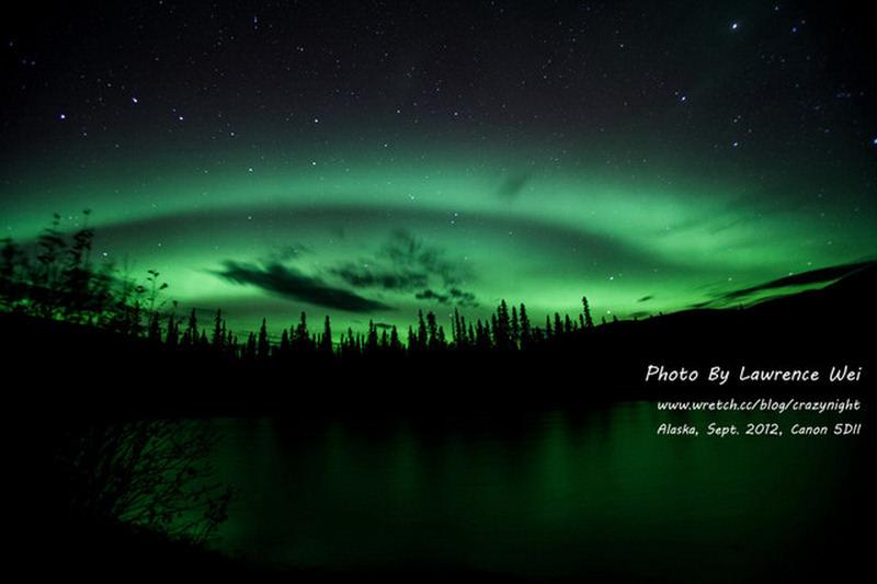 【阿拉斯加 ♥ 幸福北極光】Day8-2 Angel Creek Lodge晚餐 → 秘密基地的極光倒影