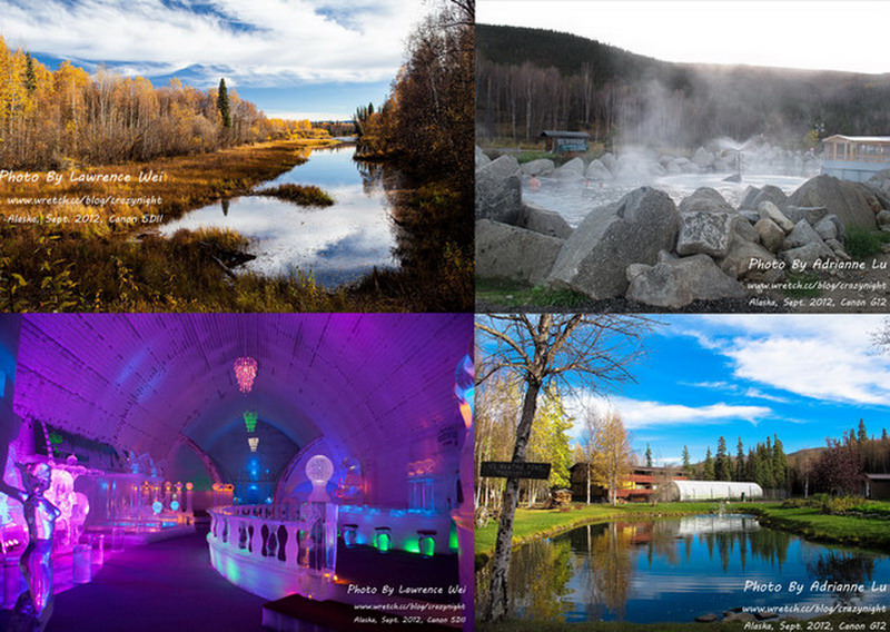 【阿拉斯加 ♥ 幸福北極光】Day8-1 珍娜溫泉渡假村 (Chena Hot Springs Resort) → 冰雕博物館(Ice Museum)