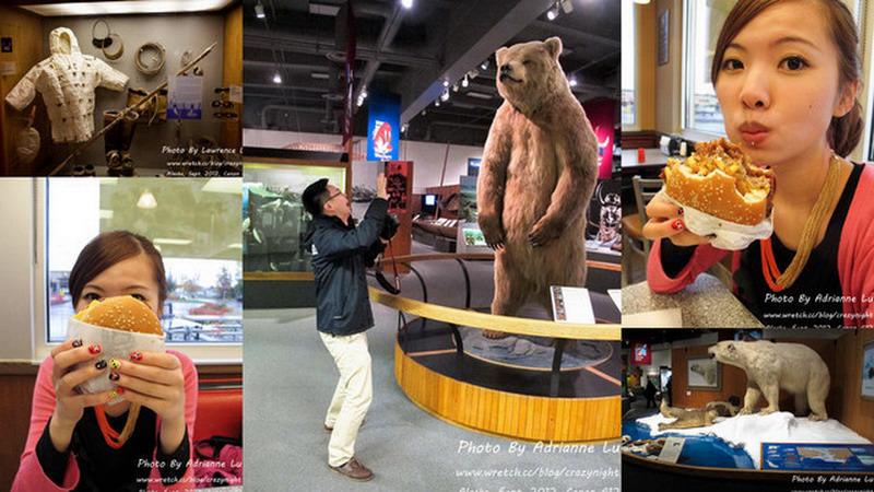 【阿拉斯加 ♥ 幸福北極光】Day6 阿拉斯加大學博物館 → 比臉還大的美味漢堡Carl's Jr.