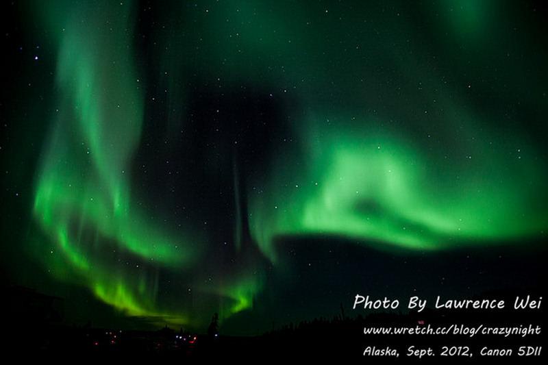 【阿拉斯加 ♥ 幸福北極光】Day4-2 極光初現 ─ 天空就像繽紛的調色盤