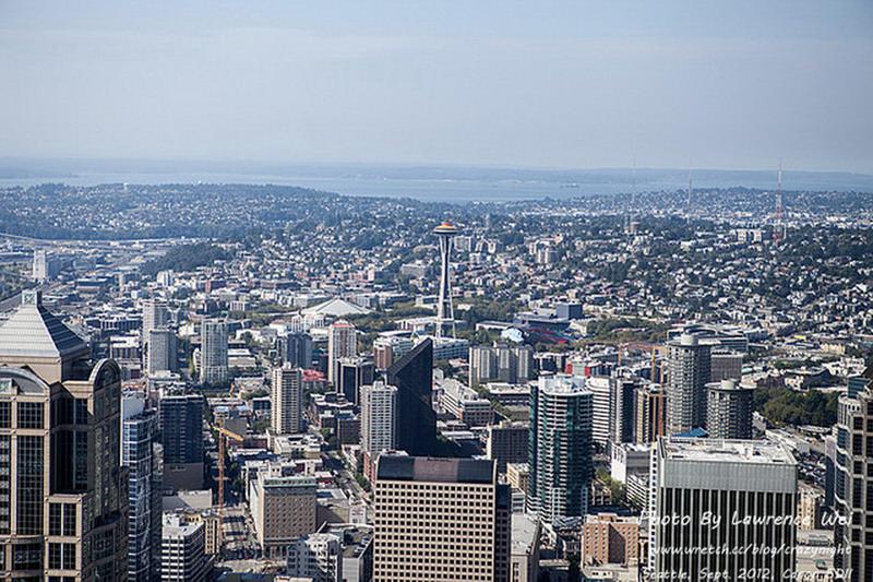 【西雅圖 ♥ 夜未眠】Day1-3 念念不忘的好滋味The Cheesecake Factory → 俯瞰西雅圖全景 Columbia center