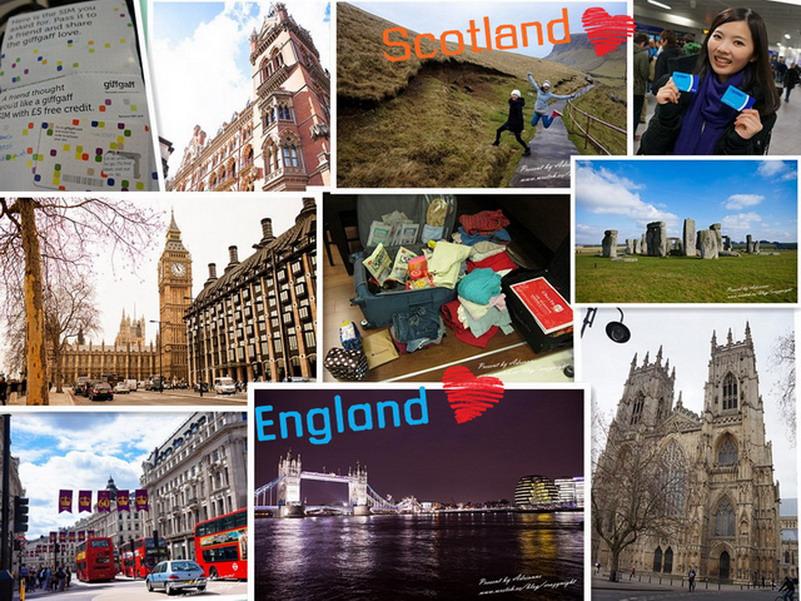 【英國自由行懶人包】行前準備、飯店、倫敦機場到市區、Local Tour資訊、愛丁堡到倫敦交通、oyster card、3G上網吃到飽、推薦餐廳、景點..等