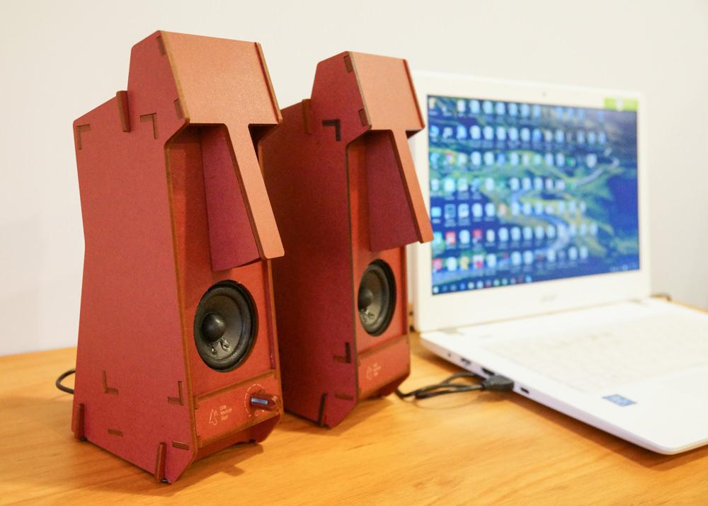 [生活]立體拼圖音響Stereo Puzzle-DIY超潮摩艾石像音響
