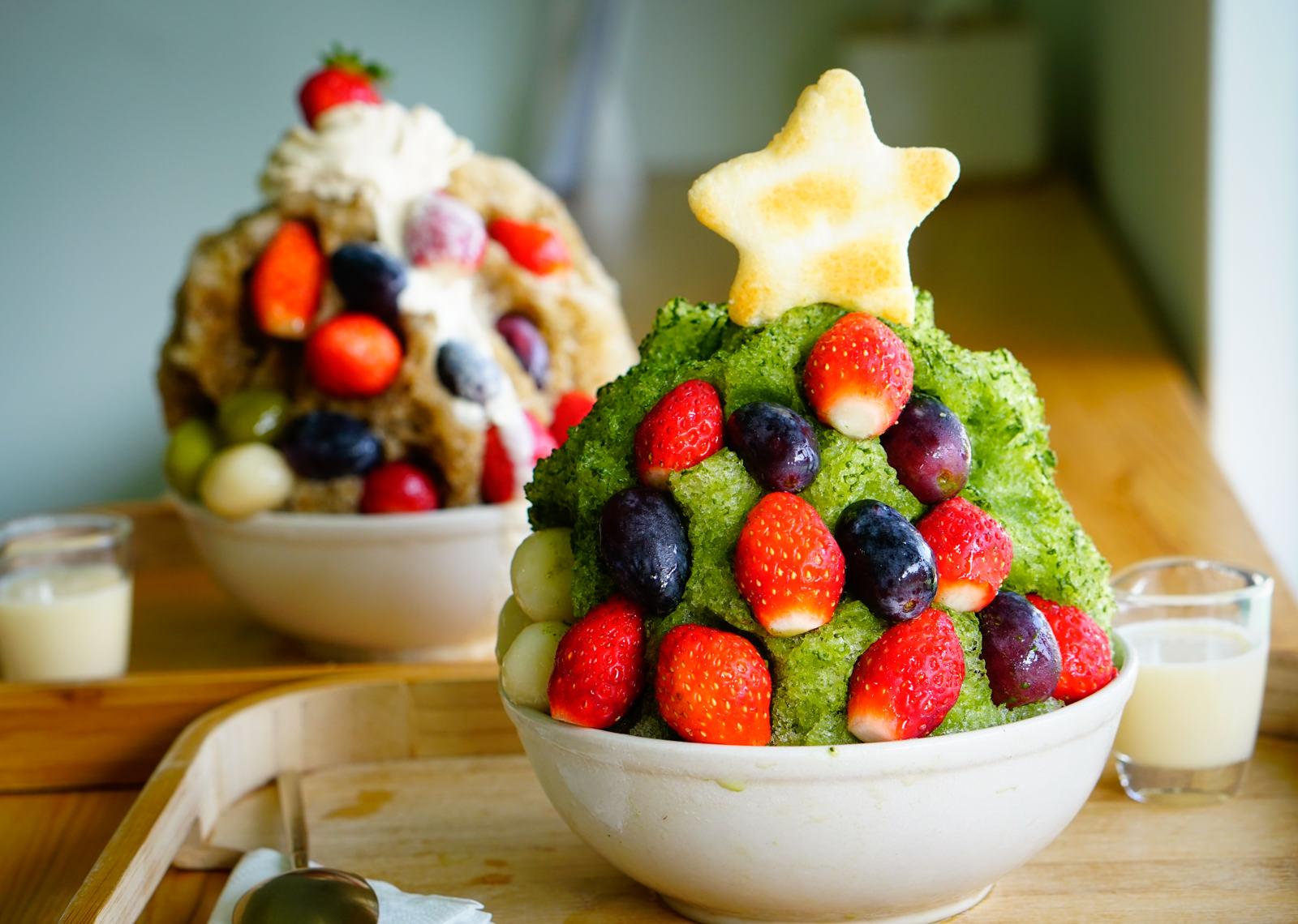 [高雄]冰屋-小山園抹茶聖誕樹刨冰! 繽紛吃冰過聖誕 高雄冰店推薦