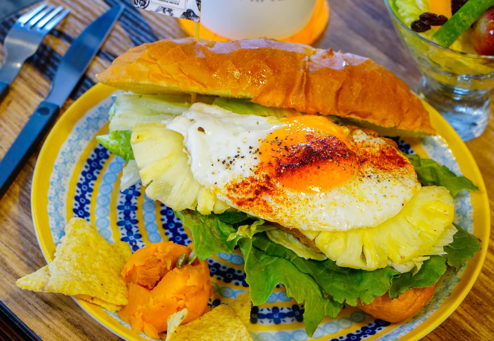 [高雄]原味好食輕食早午餐-兩手無法掌握的超大三明治 品嘗食物簡單美味 高雄早午餐推薦