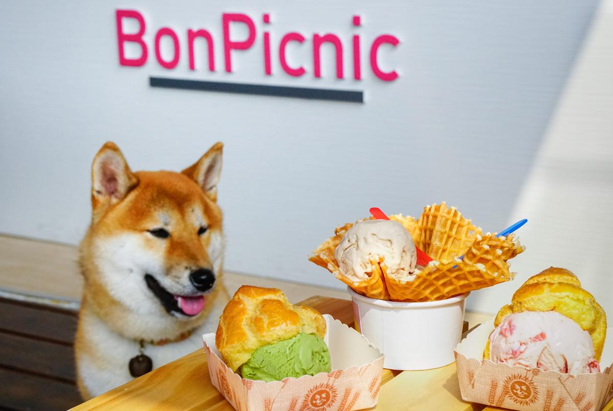 [高雄]BonPicnic小野餐-粉紅小屋吃冰配柴犬! 駁二最新IG打卡熱點! 天然手作冰淇淋 高雄駁二美食推薦