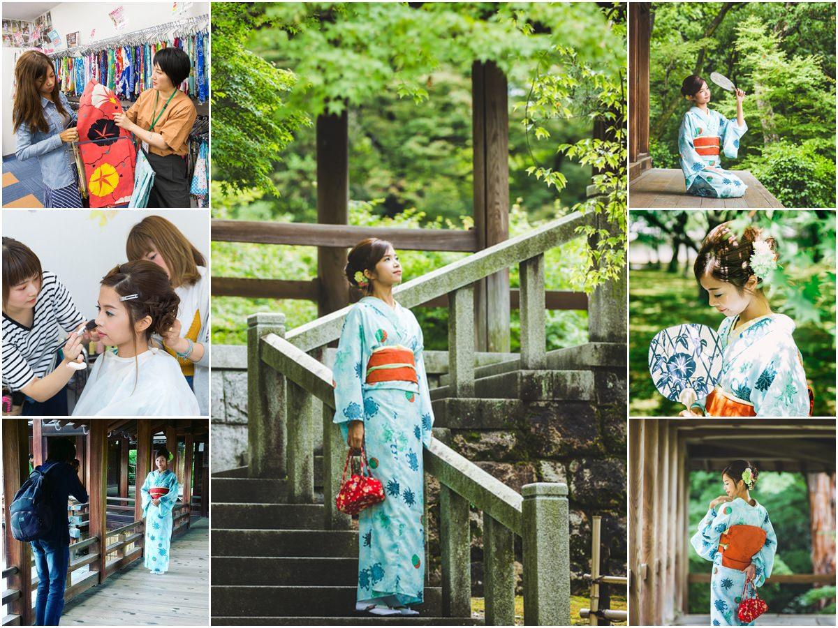 [京都自助]夢館和服體驗!讓人超滿意的東福寺外拍攝影方案 穿著和服漫步京都 京都和服外拍推薦