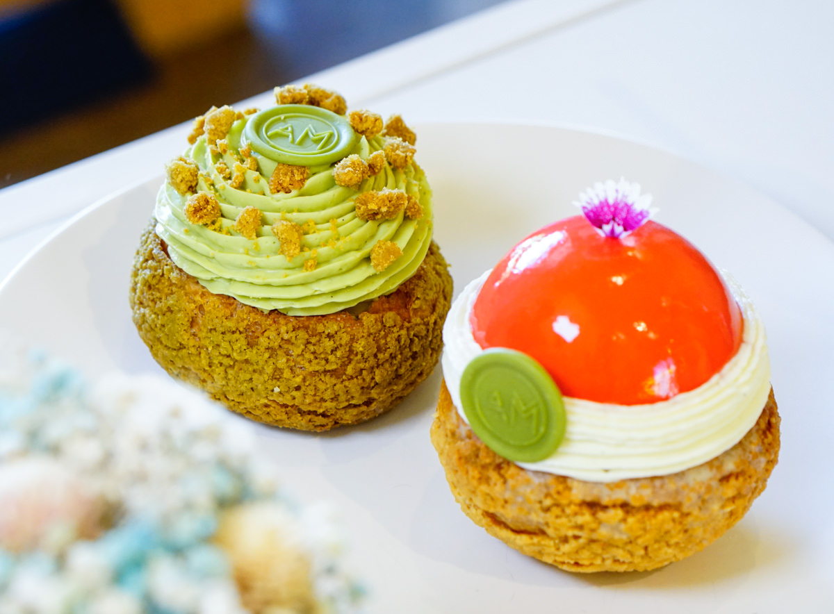 [高雄]AM Pastry Studio波諾斯甜點工作室-低調華麗法式泡芙! 愛河之心旁隱藏版甜點店 高雄下午茶推薦