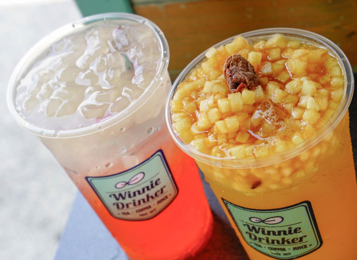 [高雄]Winnie Drinker葳林爵閣(三多店)-蘋果肉爆發!清爽富士蘋果綠 高雄必喝夢幻飲品