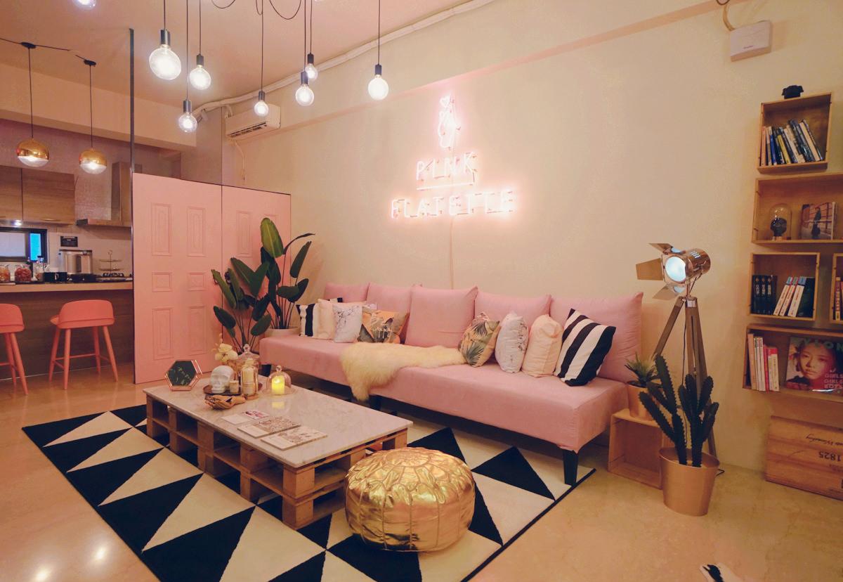 [台南民宿推薦]Pink Flatette平克弗雷特-時尚粉紅系攝影棚民宿!網美們必來打卡聖地