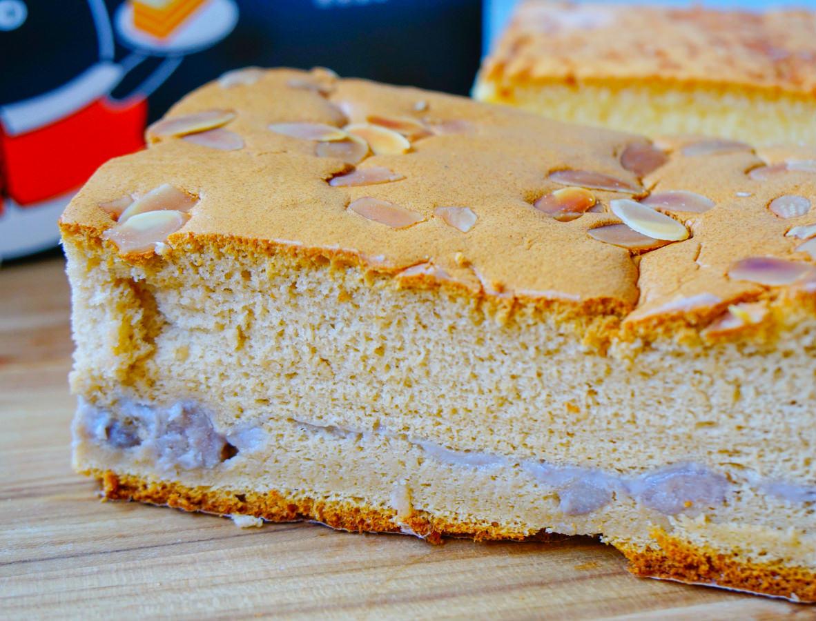 [高雄古早味蛋糕]法朗西斯烘培坊-芋頭夾層古早味蛋糕!獨家口味綿軟口感