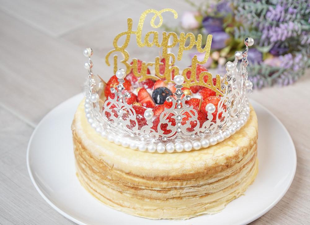 [千層蛋糕推薦]女王千層法式手工甜點-華麗破表!超浮誇皇冠草莓千層蛋糕