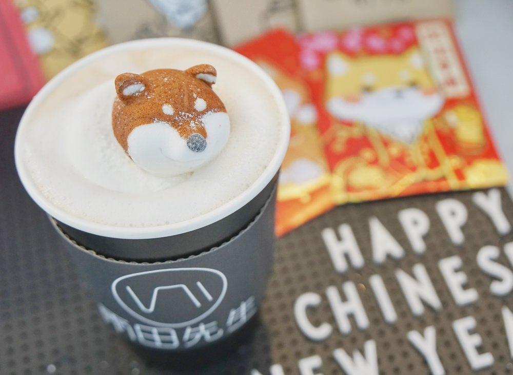 [台北東區美食]雨田先生手沖飲品吧-柴犬控必喝!超療癒柴犬部長鮮奶茶