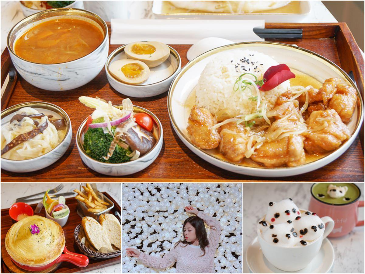 [高雄文山特區美食]Good Partner好夥伴咖啡-質感升級和食新菜單xIG超好拍夢幻白花牆