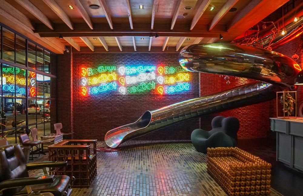 [台中住宿推薦]紅點文旅-新潮設計溜滑梯!台中必住時尚旅店